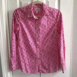 J. Crew glenjade liberty shirt 0 pink floral 0